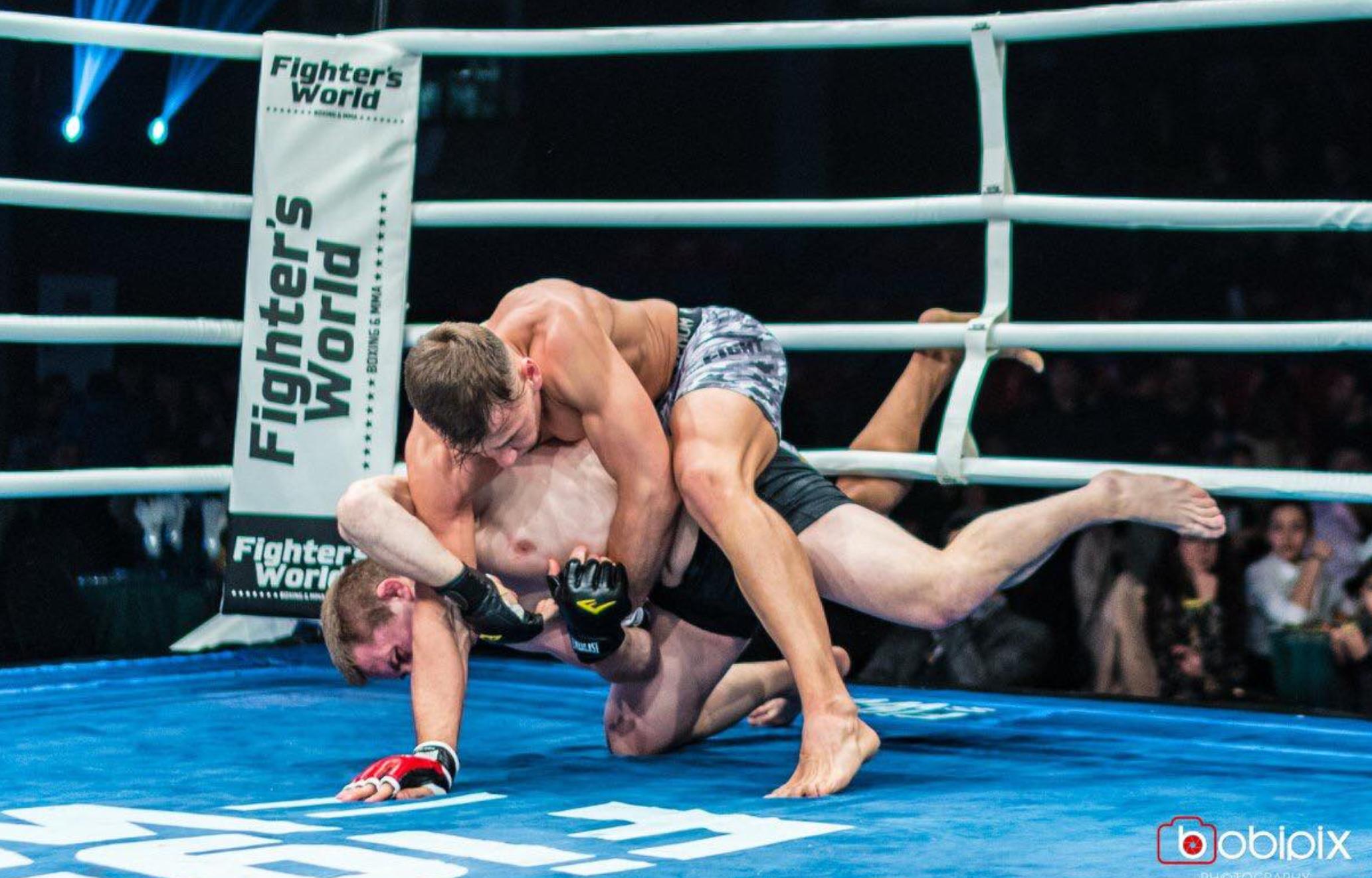 MMA-Fighter Hasan Chamzatov im Kämpferportrait