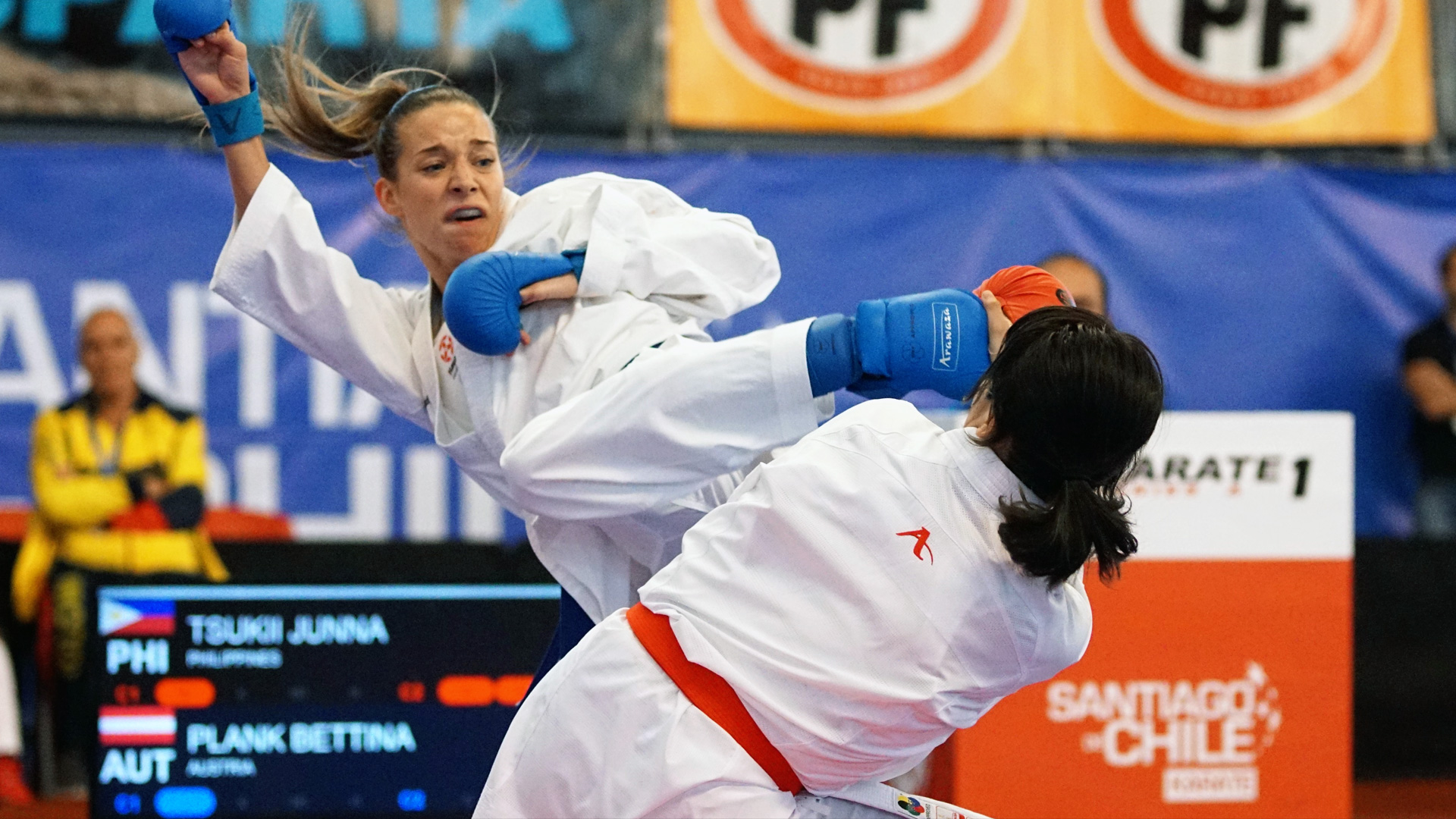 Karate Austria News   Bettina Plank mit Fieber erkrankt   Antritt beim Serie A Turnier in Santiago de Chile   früh ausgeschieden