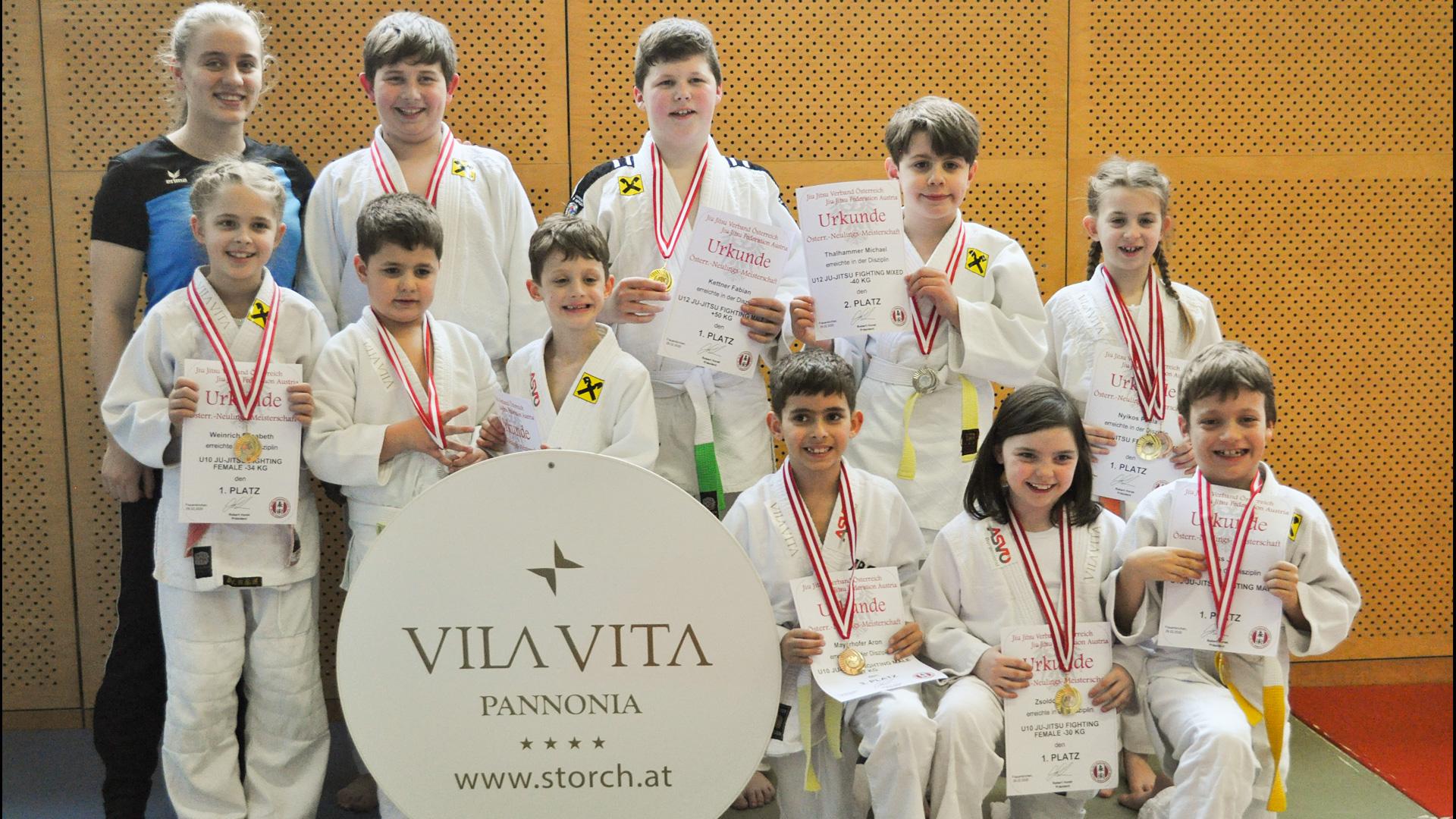 Neulingsmeisterschaften | JiuJitsu | Frauenkirchen | KämpferInnen JiuJitsu Club Vila Vita Pannonia