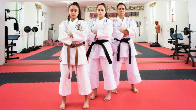 Die Celo Karate Schwestern von links nach rechts Sima, Isra, Funda