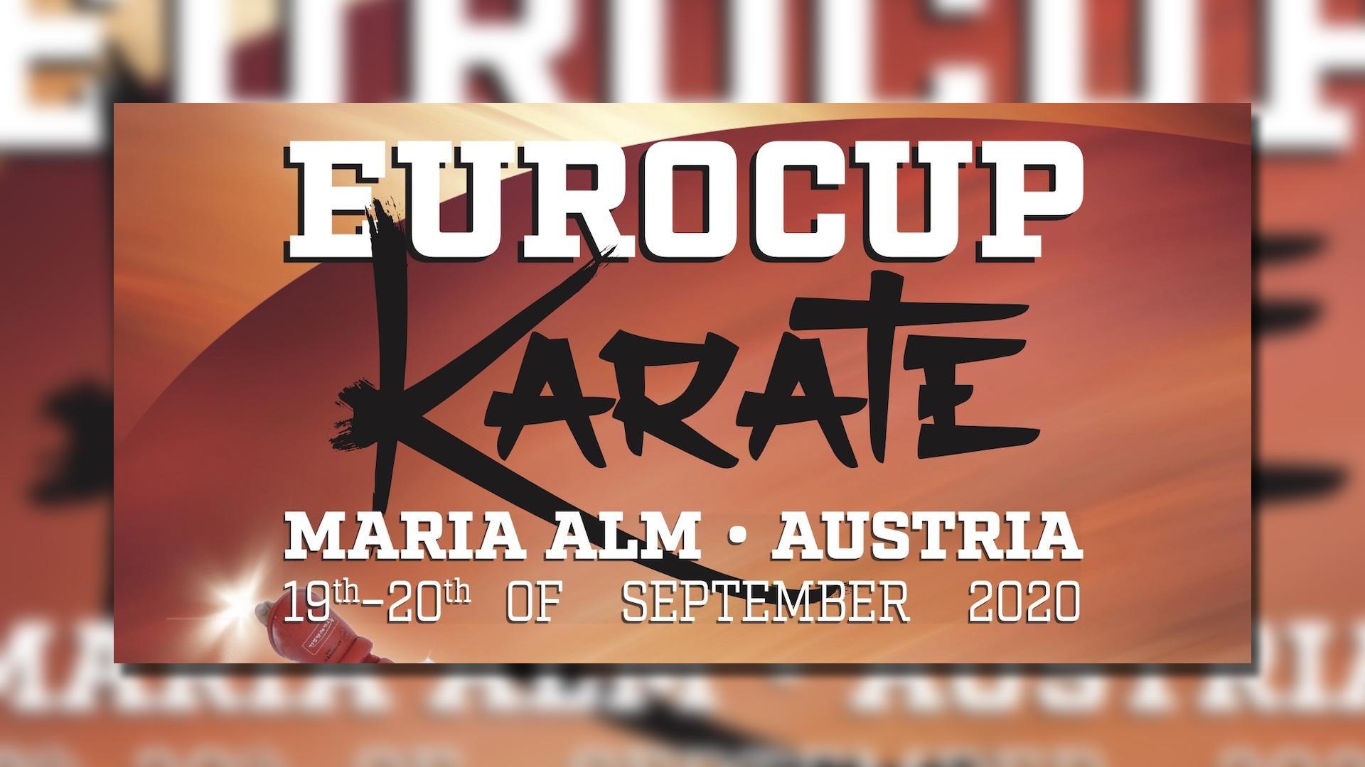 Euro Cup 2020 Karate Plakat am 19. und 20. September 2020 in Maria Alm