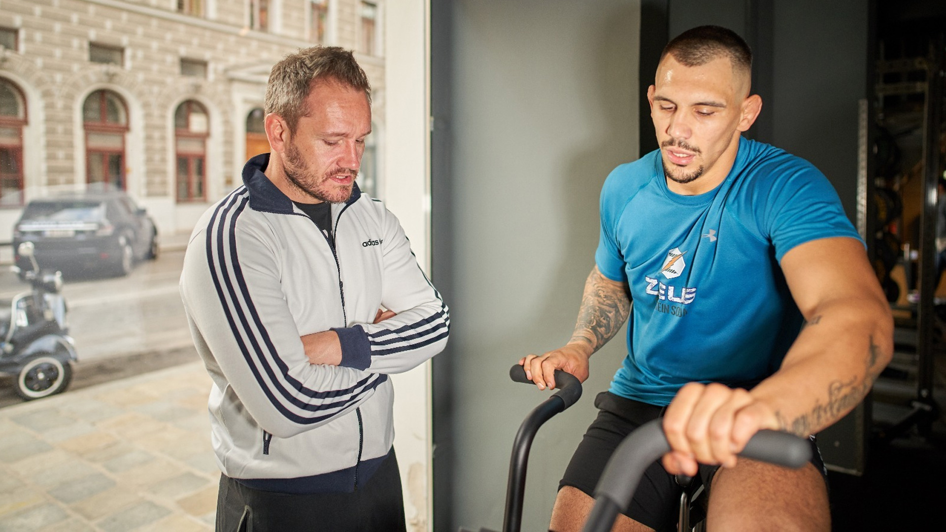 Aleksandar Rakic mit Performance Coach Richard Staudner c)Staudner