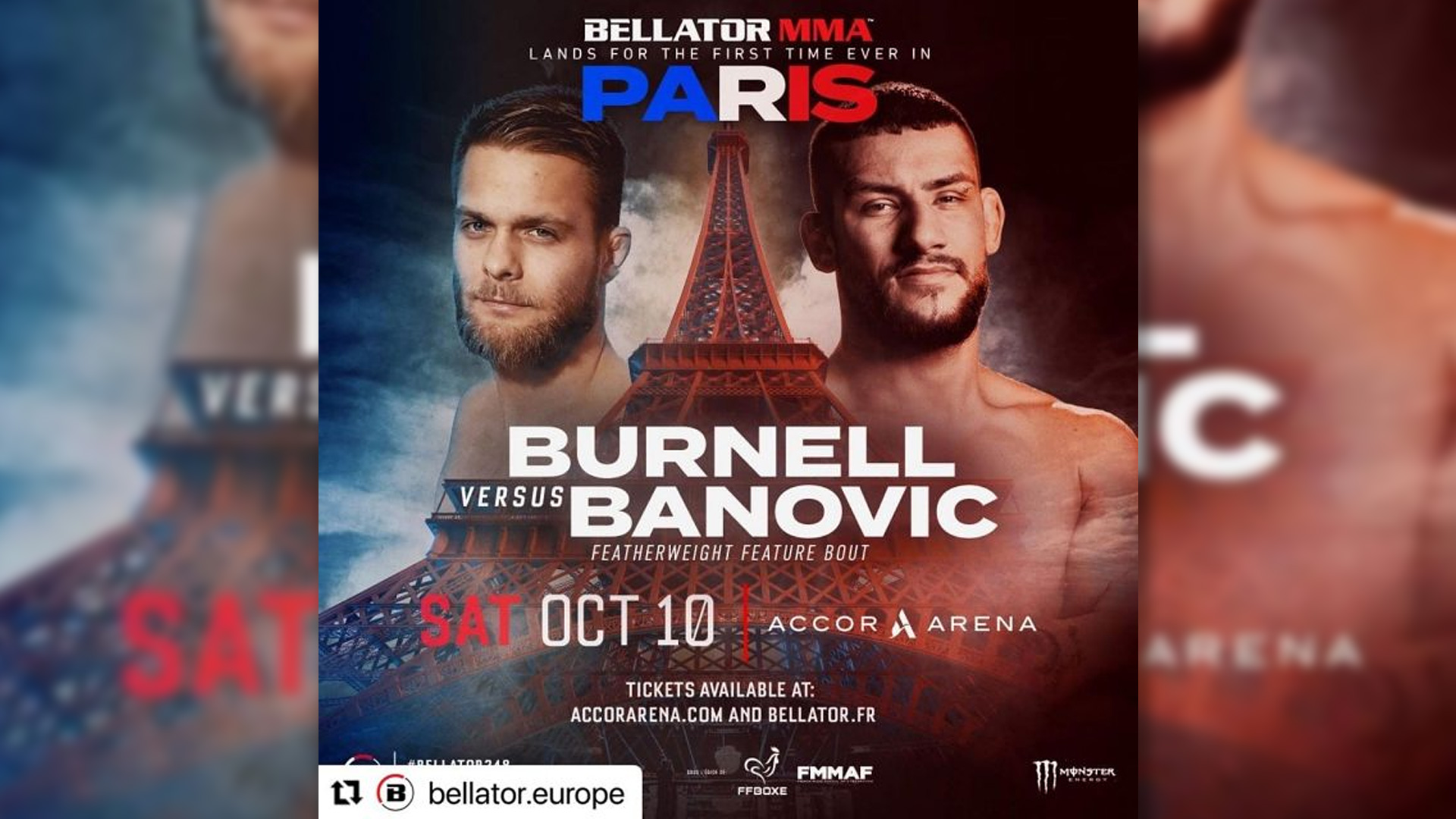 Bellator Paris Plakat