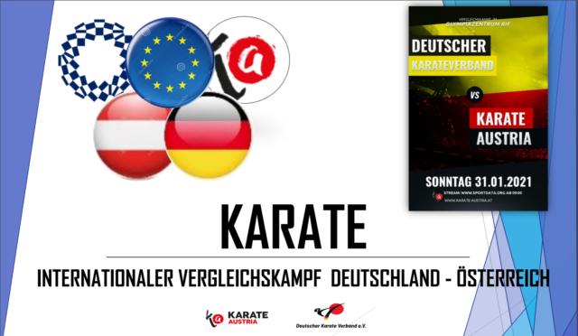 Plakat Ländermatch Karate Deutschland gegen Österreich
