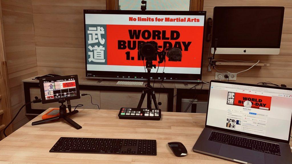Schaltzentrale der Veranstalter des World Budo Day