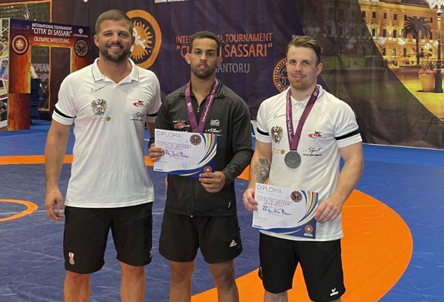 Die beiden ÖRSV Vertreter Christoph Burger und Aker Al Obaidi holten beide die Silbermedaillei