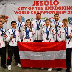 Tolle Erfolge für Österreich bei der WAKO Kickbox-WM