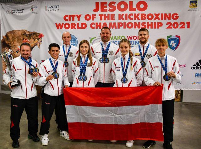 Kickboxweltmeisterschaft Jesolo 2021 c)Öbfk Austria